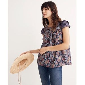 Madewell Floral Top EUC